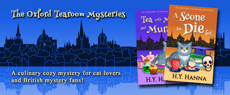 Culinary cozy mystery for cat lovers and British mystery fans!