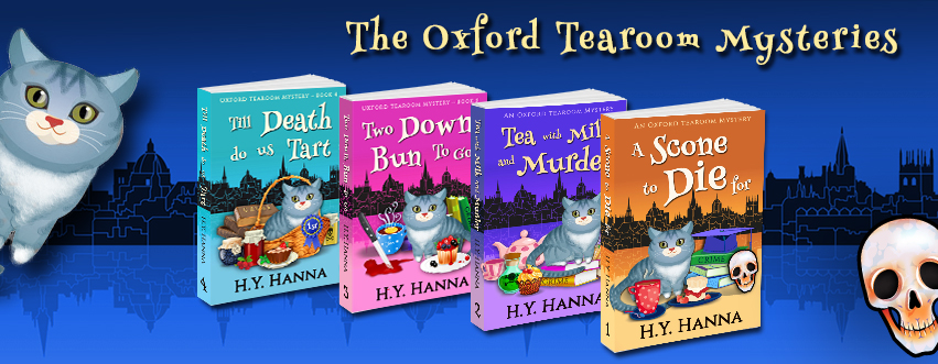 Oxford Tearoom Mysteries - culinary cozy mystery for cat lovers & British mystery fans