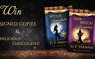 GIVEAWAY: Signed copies of BEWITCHED BY CHOCOLATE Mysteries (Books 1 & 2) and delicious chocolates!