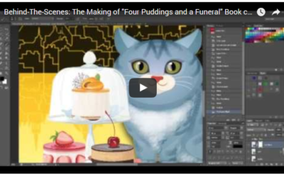 "Behind-the-Scenes: The Making-Of ""Four Puddings and a Funeral"" Book Cover"